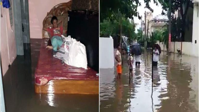 महज 24 घंटे की बरसात में पटना का हाल हुआ बेहाल, तस्वीरों में देखिए राजधानी का हाल