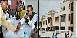एमएलसी के लिए 55 अत्याधुनिक फ्लैट बनकर तैयार, भवन निर्माण मंत्री अशोक चौधरी ने किया निरीक्षण