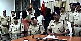 हत्या की साजिश को पुलिस ने किया नाकाम, पांच अपराधियों को हथियार के साथ किया गिरफ्तार
