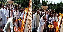 बापू की 150वीं जयंती पर राज्यपाल फागू चौहान और सीएम नीतीश कुमार ने उनकी प्रतिमा पर माल्यार्पण कर दी श्रद्धांजली