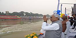 CM नीतीश के साथ PK भी गंगा के छठ घाट देखने निकले, राज्यपाल फागू चौहान भी साथ...