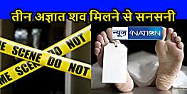 Bihar Crime News : पिपरा थाना क्षेत्र में तीन अज्ञात शव मिलने से सनसनी, जांच में जुटी पुलिस