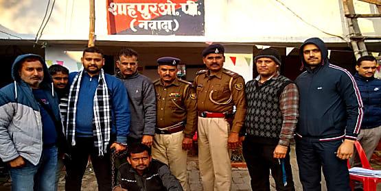 नवादा पुलिस के सहयोग से हिमाचल प्रदेश पुलिस ने की छापेमारी, ठगी के आरोपी को किया गिरफ्तार