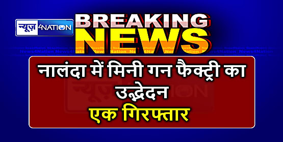नालंदा में पुलिस ने मिनी गन फैक्ट्री का किया उद्भेदन, एक को किया गिरफ्तार, हथियार बरामद