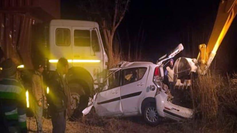 यूपी में भीषण सड़क दुर्घटना, कुंभ स्नान को जा रहे एक ही परिवार के 6 लोगों की मौत