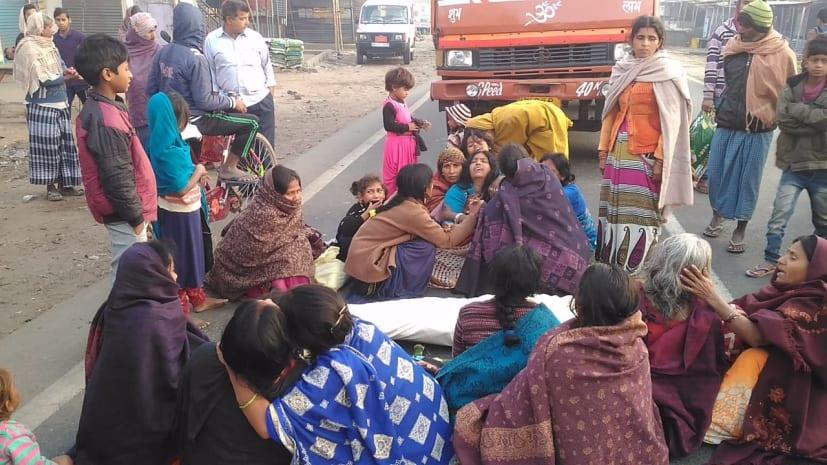 नालंदा में सड़क हादसे में शख्स की मौत, गुस्साए लोगों ने किया हंगामा