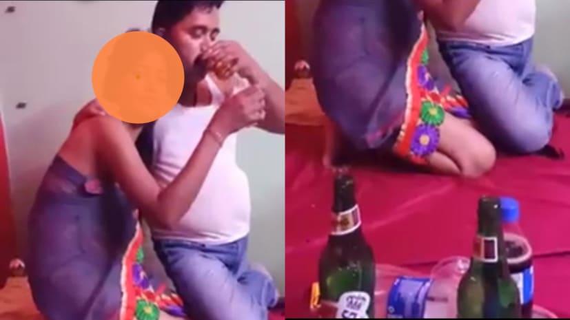 बड़ी खबरः जेडीयू नेता का अर्धनग्न लड़की के साथ शराब पीते वीडियो वायरल....