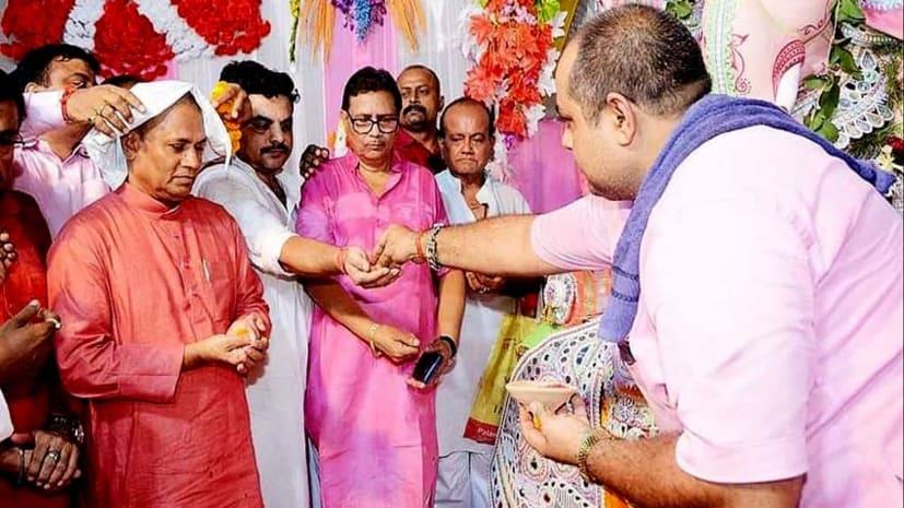 भगवान गणेश का दर्शन करने पहुंचे राज्यसभा सांसद आरसीपी सिंह, अमन चैन की मांगी दुआ