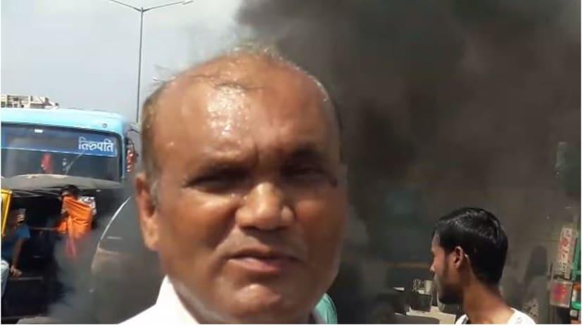 जल जमाव के परेशान पटनावासियों का टूटा सब्र का बांध, एनएच-30 को किया जाम