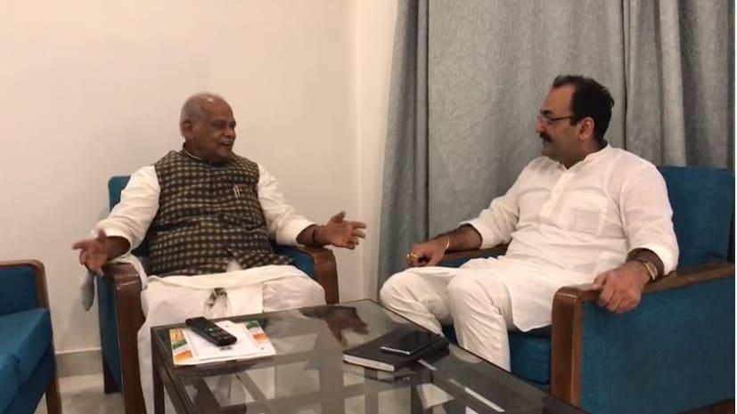 महागठबंधन बचाने की कवायद तेज, दिल्ली में जीतनराम मांझी ने वीरेंद्र सिंह राठौर से की मुलाकात
