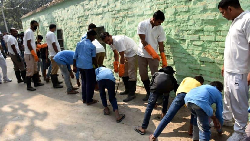 एसएसबी ने स्कूल में चलाया स्वच्छता अभियान, छात्रों को बताये गए साफ-सफाई के फायदे