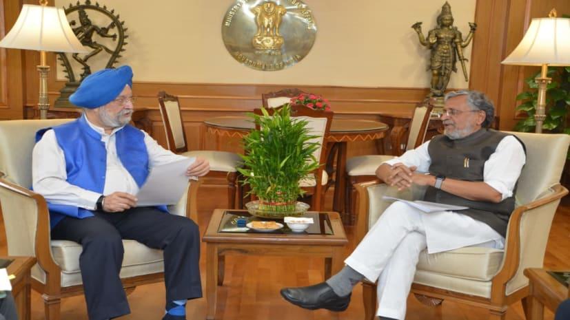पटना मेट्रो को लेकर केंद्रीय मंत्री से मिले सुशील मोदी, जापानी बैंक से जल्द मिलेगा 5,400 करोड़ का लोन
