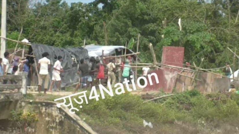 बड़ी खबर : मुजफ्फरपुर में बांध टूटने से ग्रामीणों में आक्रोश, मौके पर पहुंची पुलिस और प्रशासन पर किया पथराव