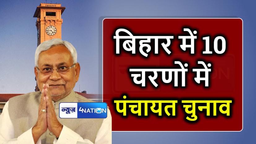नीतीश कैबिनेट के बड़ा फैसला, बिहार में 10 चरणों मे होंगे पंचायत चुनाव