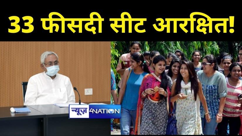 CM नीतीश की बड़ी पहलः अब मेडिकल और इंजीनियरिंग कॉलेज में लड़कियों के लिए 33 फीसदी सीट आरक्षित