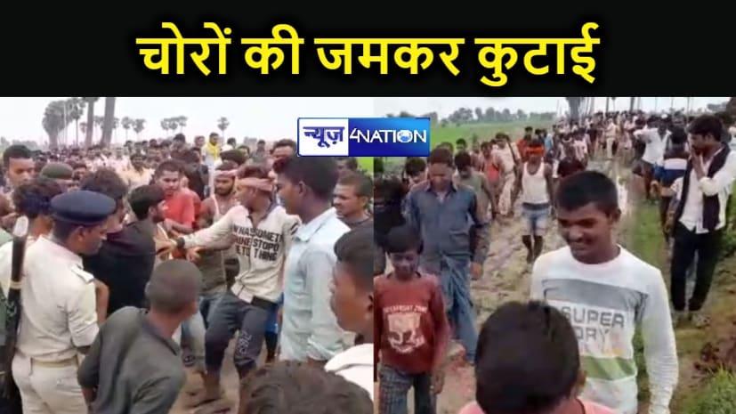 खेत में मशीन चोरी करने आए चार चोरों को ग्रामीणों ने रंगे हाथ पकड़ा, फिर जमकर की कुटाई, पुलिस ने भीड़ से आरोपियों को छुड़ाया