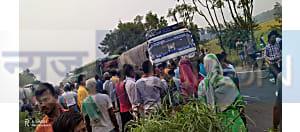 दिल्ली से मुजफ्फरपुर लौट रही बस दुर्घटनाग्रस्त,कई यात्री गंभीर रूप से घायल