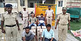 गया में उत्पाद विभाग की टीम को मिली सफलता, 12 कार्टन शराब के साथ दो को किया गिरफ्तार