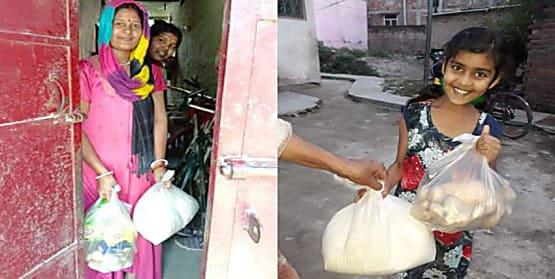 कोरोना की इस त्रासदी में एक-दूसरे के मदद को बढ़ने लगे हाथ, पार्षद लोगों के घर पहुंचा रहे अनाज और सब्जी