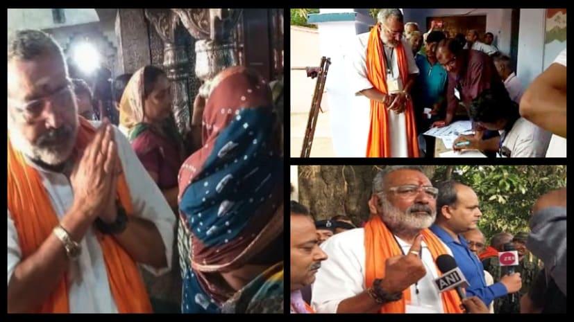देश के 72 सीटों पर वोटिंग जारी, बेगूसराय से बीजेपी प्रत्याशी गिरिराज सिंह ने डाला अपना वोट
