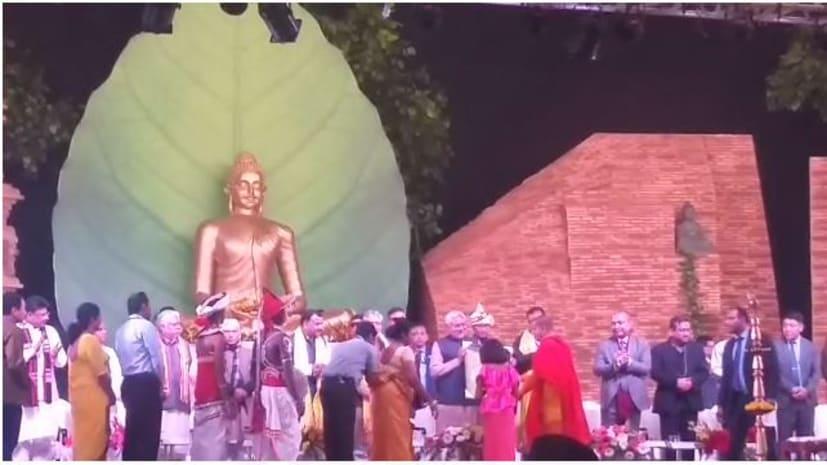बोधगया में तीन दिवसीय बौद्ध महोत्सव का आगाज, सीएम नीतीश ने दीप प्रज्वलित कर किया उद्घाटन