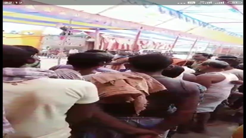 ग्रामीणों और पुलिस के बीच झड़प में चली गोली, ग्रामीण घायल