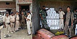 पटनासिटी में पुलिस ने की छापेमारी, भारी मात्रा में देशी और विदेशी शराब के साथ राइफल बरामद