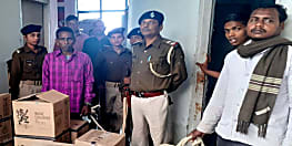शराब के अवैध व्यापार के खिलाफ पुलिस ने की कार्रवाई, 30 कार्टन शराब के साथ एक को किया गिरफ्तार