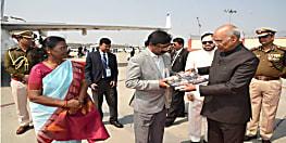 तीन दिवसीय झारखंड दौरे के बाद दिल्ली लौटे राष्ट्रपति कोविंद, रांची एयरपोर्ट पर राज्यपाल मुर्मू और सीएम सोरेन ने दी विदाई