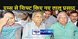 DELHI : एम्स से शिफ्ट हुए राजद सुप्रीमो, जानिए कहां है उनका नया ठिकाना