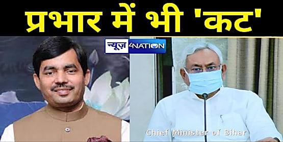 CM नीतीश ने 'शाहनवाज' को केवल एक जिले का बनाया प्रभारी, BJP कोटे से तारकिशोर-रेणु-मंगल और अमरेंद्र को 2-2 जिलों का प्रभार