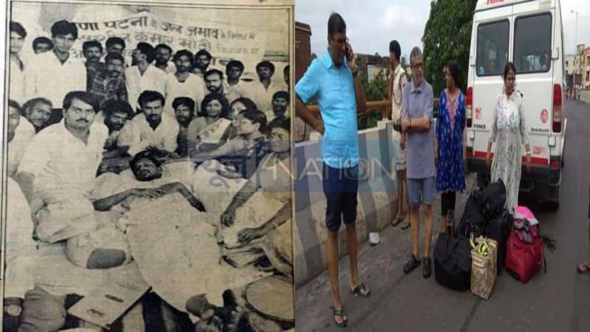 सुशील मोदी की इन तस्वीरों को देखिए...लालू-राबड़ी राज में जल जमाव जिसके लिए एक राजनीतिक हथियार था, आज उसी के पेंच में ऐसे फंसे की निकले तो भी डूब गए!
