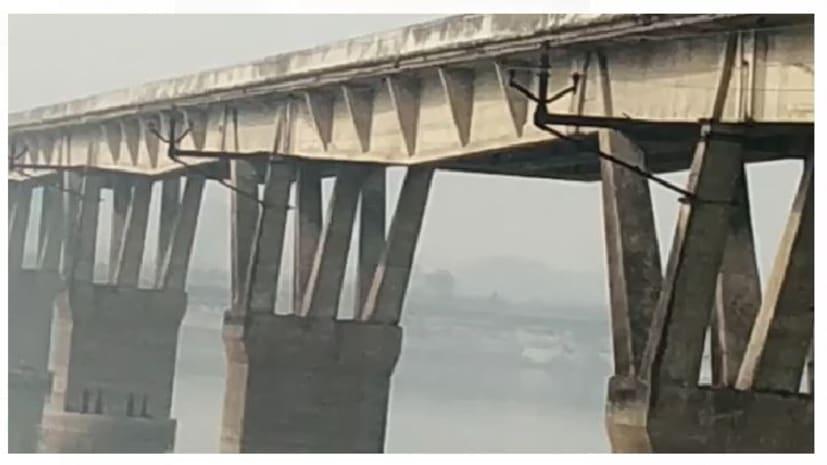 कुर्सेला पुल का पिलर 6 इंच धंसा, वाहन आवाजाही पर रोक
