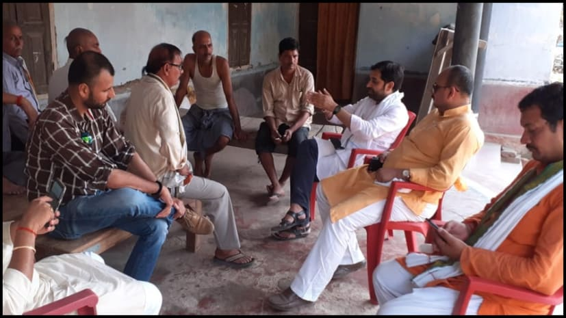 राजेश सिंह के समर्थन में आशुतोष कुमार ने बिक्रम में किया जनसंपर्क, जनता से मांगा समर्थन