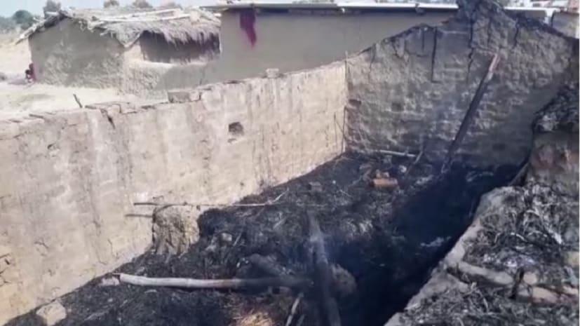 नवादा में ताड़ी नहीं देने पर युवकों ने की रोड़ेबाजी, महिला का घर जलाया