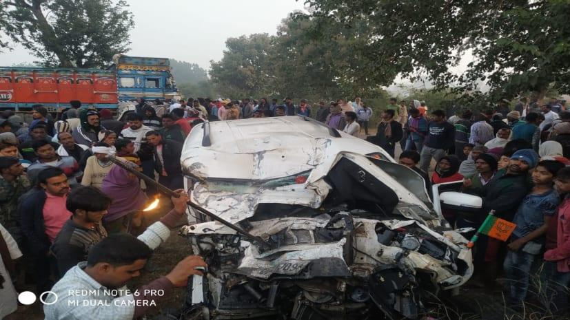 गढ़वा में बड़ा सड़क हादसा, MLA के भांजे समेत 4 लोगों की मौत