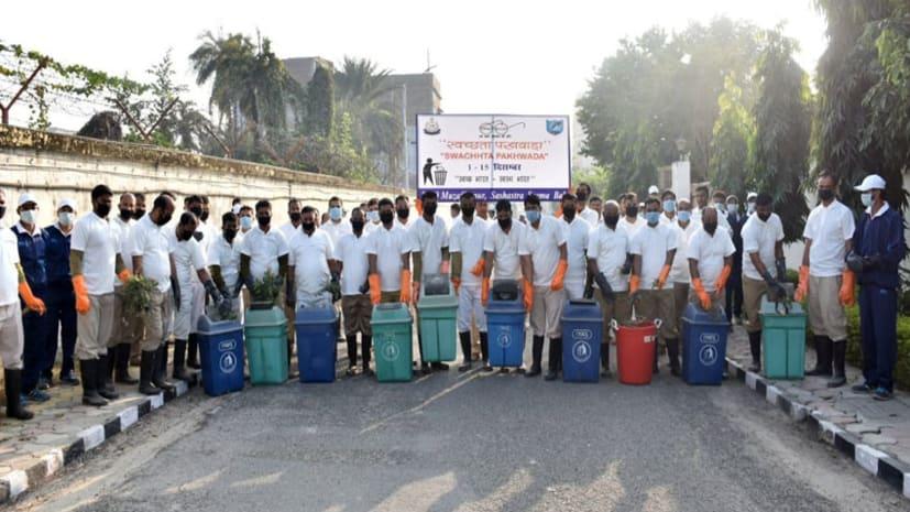 एसएसबी मुख्यालय में स्वच्छता पखवाड़ा की हुई शुरुआत, कैम्पस में की गयी साफ़-सफाई