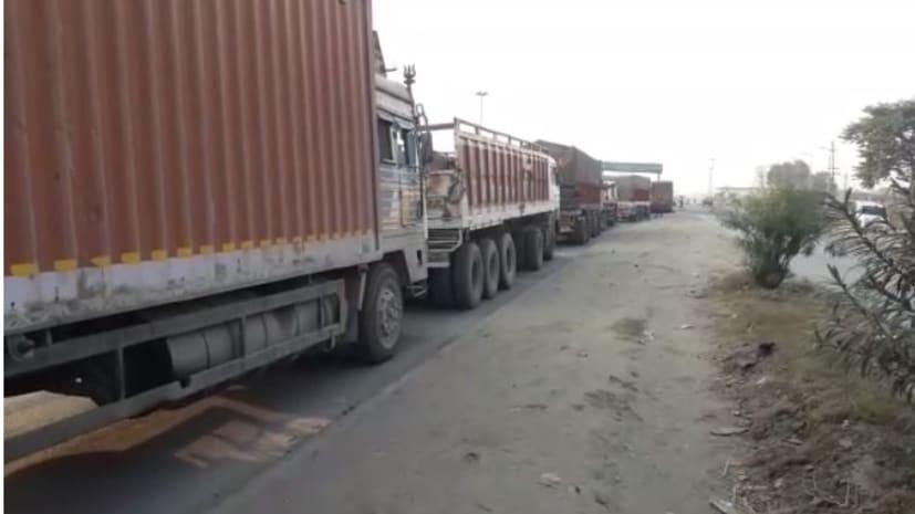 कैमूर में एनएच 2 पर लगा भीषण जाम, कई किलोमीटर तक वाहनों की लम्बी कतार