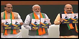 बीजेपी का चुनावी घोषणा पत्र जारी, राष्ट्रवाद, आतंकवाद, सिटीजनशिप अमेंडेंट बिल, राम मंदिर  और किसानों लिए बड़ा एलान