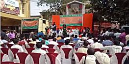 गांधी संकल्प यात्रा के तहत राज्यसभा सांसद आर के सिन्हा पहुंचे गया, कार्यकर्ताओं ने किया भव्य स्वागत