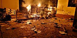 पुलिस की पिटाई से युवक के मौत की अफवाह, आक्रोशित लोगों ने थाने में लगायी आग