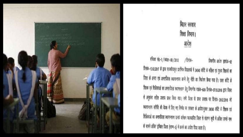 34540 कोटि के 1462 शिक्षकों का पहली बार हुआ तबादला, शिक्षा विभाग ने जारी किया आदेश
