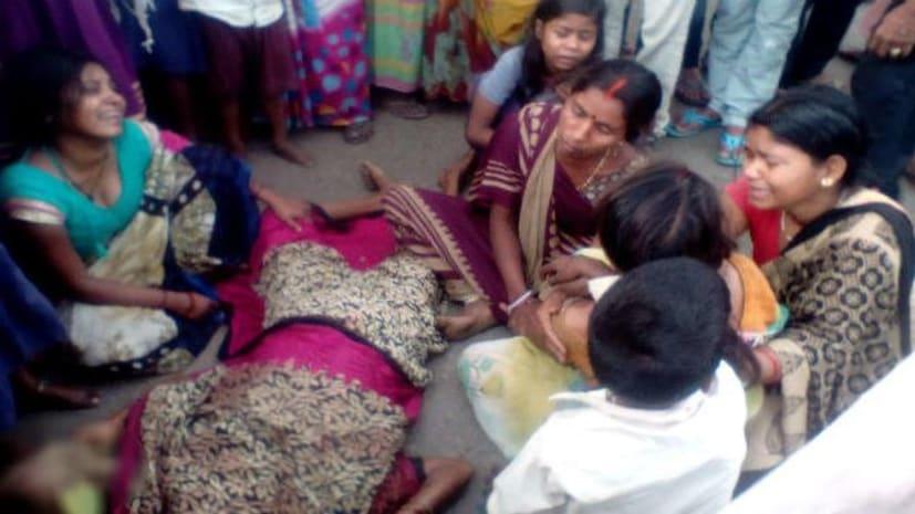 औरंगाबाद में महिला की गला रेत कर हत्या, गुस्साए लोगों ने किया सड़क जाम