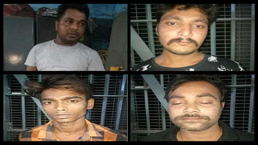 नशे की हालत में पुलिस के हत्थे चढ़े बाइकर्स गैंग के 5 सदस्य, कई शराब की बोतले भी हुई बरामद