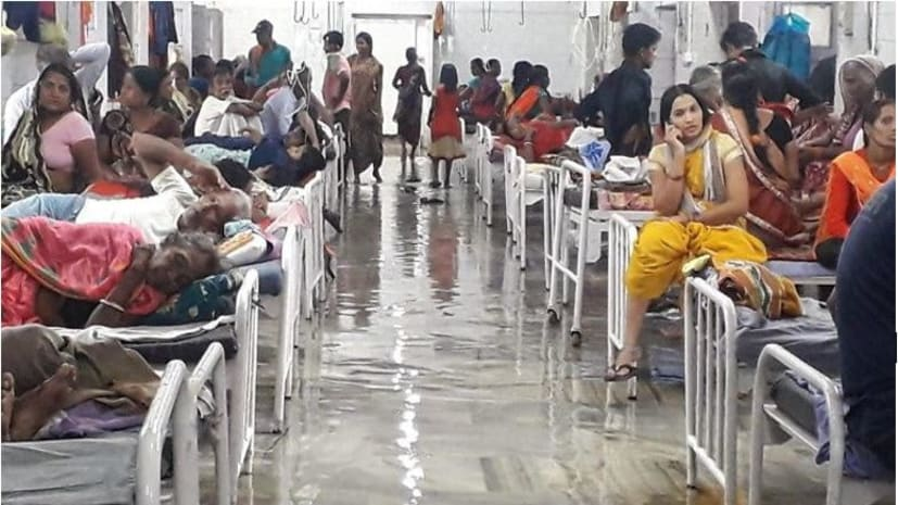 मानसून की पहली बारिश में ही पटना की सड़कों पर जलजमाव, एनएमसीएच में घुसा पानी, आईसीयू बंद