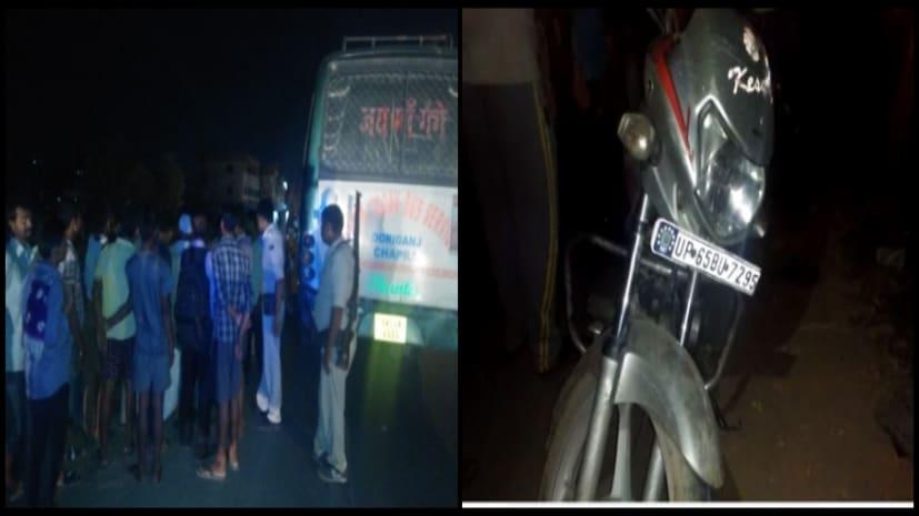 पटना के न्यू बाईपास पर सड़क हादसा टला, बाइक को बस ने दो सौ मीटर तक घसीटा, बची जान