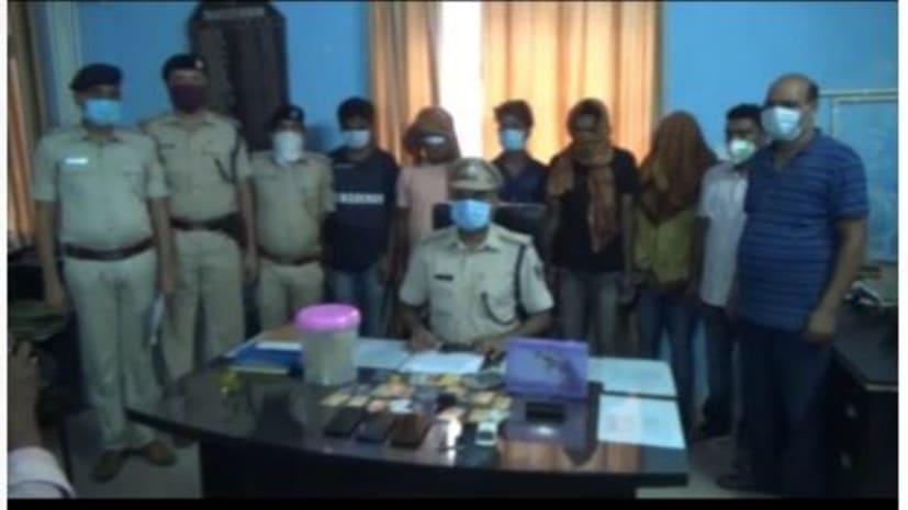 गया पुलिस ने लेफ्टी यादव को गुर्गों के साथ किया अरेस्ट, घर पर चढ़कर की थी फायरिंग, देसी कट्टा और गांज भी बरामद