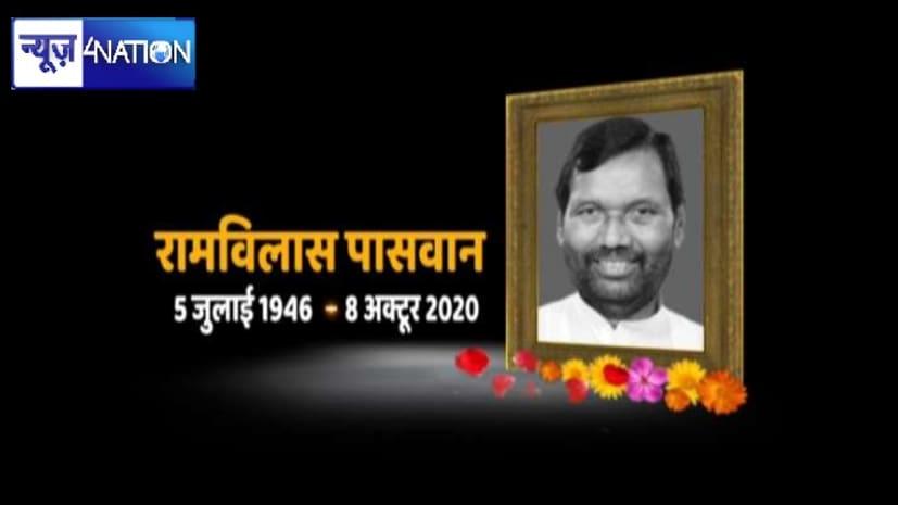 रामविलास पासवान के निधन से पूरे बिहार में शोक की लहर,CM नीतीश समेत तमाम नेताओं ने जताया शोक