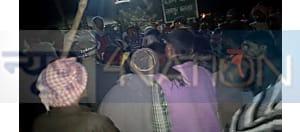 अपराधियों ने की पेट्रोल पम्प लूटने की कोशिश, ग्रामीणों ने दबोचा, जमकर की पिटाई
