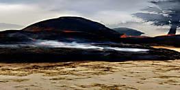 पटना में आग का कहर, खलिहान में आग लगने से लाखों का नुकसान